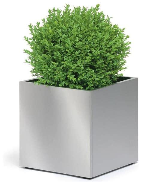 greens stainless steel medium planter