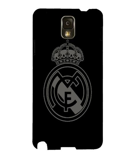 Casing Samsung 1 Real Madrid Logo White Custom Hardcase snoogg real madrid black and grey logo cover for samsung galaxy note 3 buy snoogg real