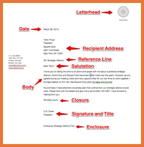 describe the layout of a business letter business letter format exle bio exle