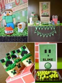 minecraft decorations vintage minecraft boy birthday planning ideas supplies