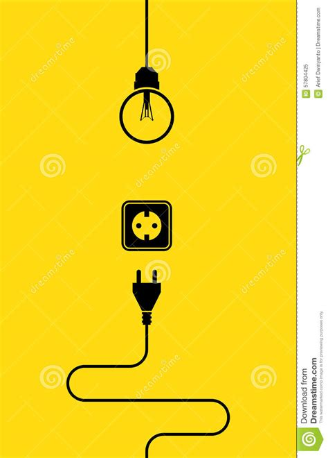electricity icon flat stock vector image 57804425