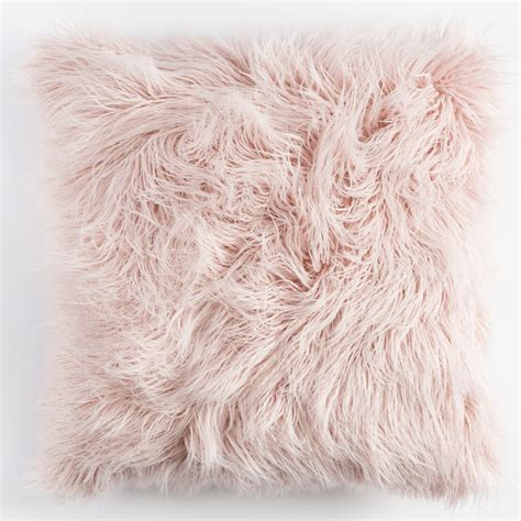 blush pink fur chair seating pillow add comfort to your home with floor