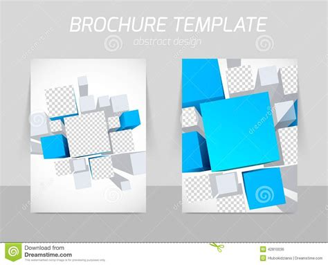 3d brochure template brochure template with squares vector 100 images