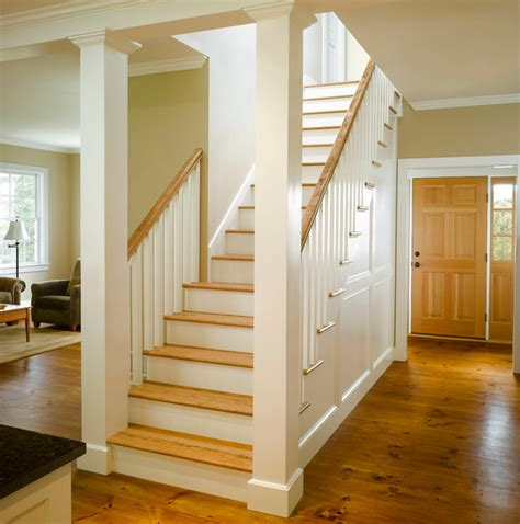 Center Hall Colonial Open Floor Plan charlotte prindle farmhouse staircase richmond by