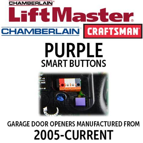 Liftmaster 315mhz Purple Learn Button Garage Door Remotes Learn Button Garage Door Opener