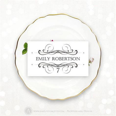 place card printable wedding escort cards tent cards