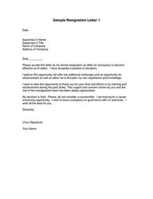 Great Letters Of Resignation exle of resignation letter search letters of resignations