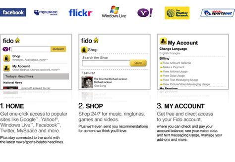 the fido mobile portal add ons shop fido ca