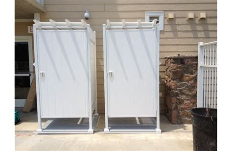 Outdoor Shower Doors Build Outdoor Shower Enclosure Images