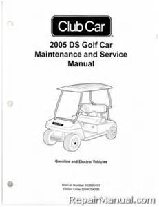 club car electric ds golf cart service manuals from the
