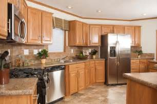 Kitchen Steel Cabinets Tl806a Timberland Ranch Kitchen With Oak Cabinets And