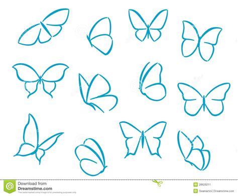 imagenes de mariposas siluetas siluetas de las mariposas ilustraci 243 n del vector