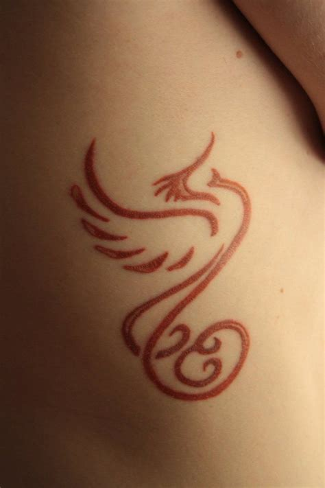 phoenix tattoo little simple red phoenix tattoo i love tattoo ideas