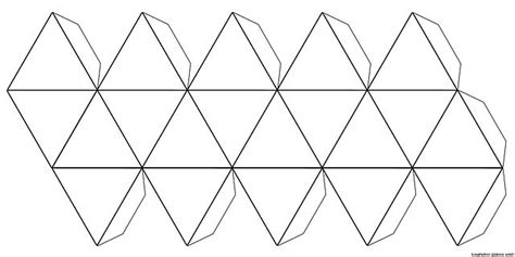 icosahedron template file foldable icosahedron blank jpg wikimedia commons