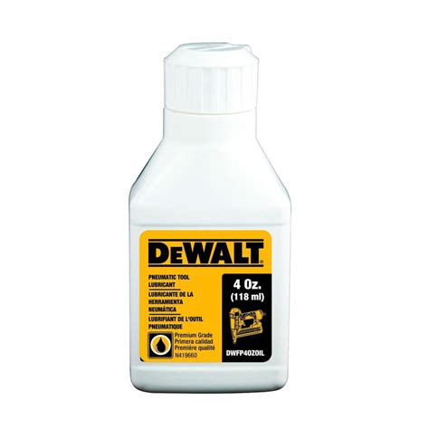 dewalt 4 oz pneumatic tool lubricant dwfp4ozoil the home depot