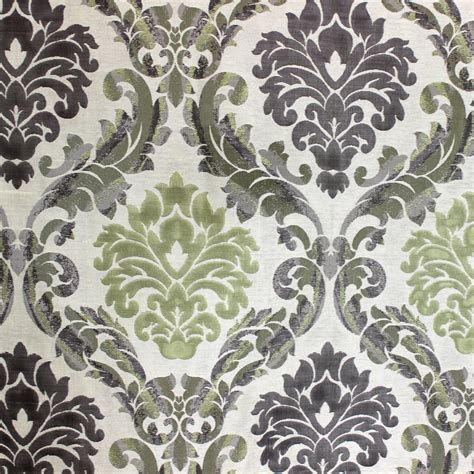 green damask upholstery fabric green n grey damask poly jacquard weave fabric by the yard