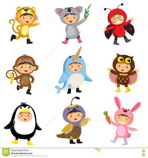 fancy dressed animals a collection of illustrations books set of wearing animal costumes jaguar koala