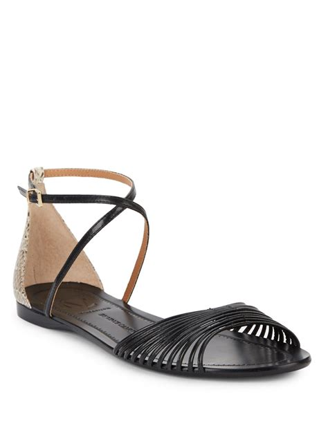 sandals signature vince camuto signature maybree leather sandals in black lyst