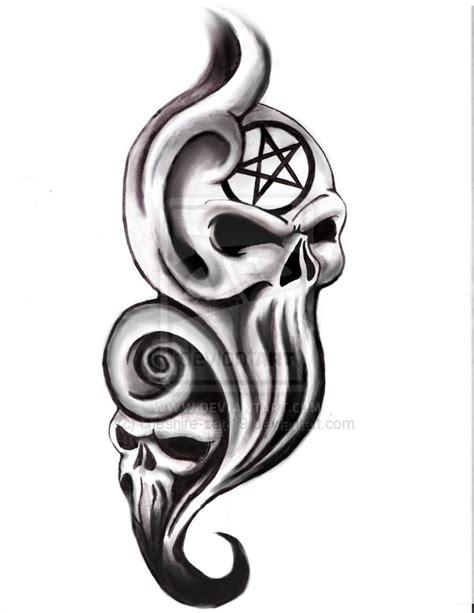 wicked skull tattoo designs magazine tatoo free evil skull drawings