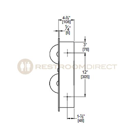 dispenser diagram asi 04823 dual roll toilet tissue dispenser with napkin
