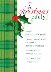 plaid christmas invitation