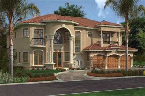 mediterranean style house plan 5 beds 6 5 baths 5743 sq
