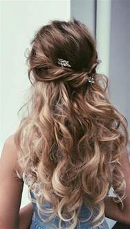 half hairstyles 18 hairstyles for prom best prom hair styles 2017