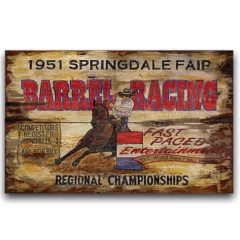 vintage western home decor barrel racing western decor vintage sign 32x20