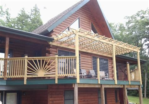 pergola stainless steel cable railing system modern