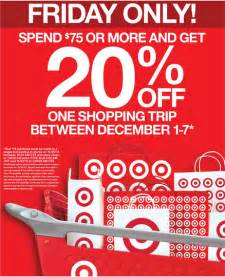 target black friday ad 2013 20 off entire purchase target coupon live now