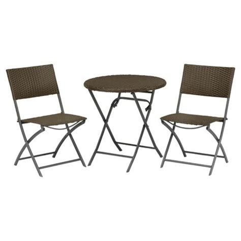 Tesco Bistro Chairs Buy Royalcraft Cannes Wicker Bistro Set Brown From Our All Garden Furniture Range Tesco