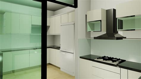 modern wet kitchen design chee wai house kech design