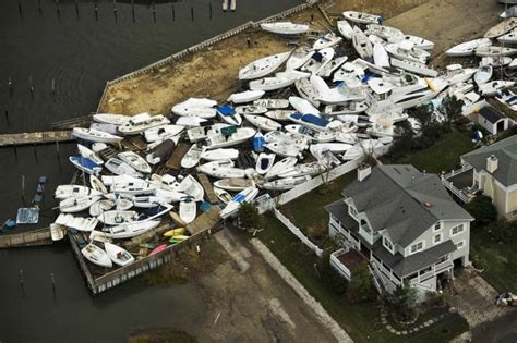boat junk yards houston aerial images of hurricane sandy s destruction