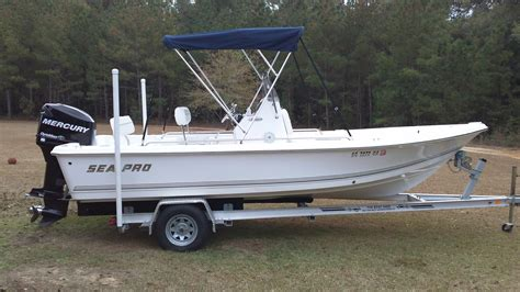 bimini top on bay boat 2008 sea pro 1900sv bay boat 17 500 the hull truth