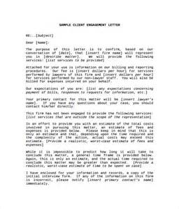 letter of engagement template engagement letter 9 free documents in pdf
