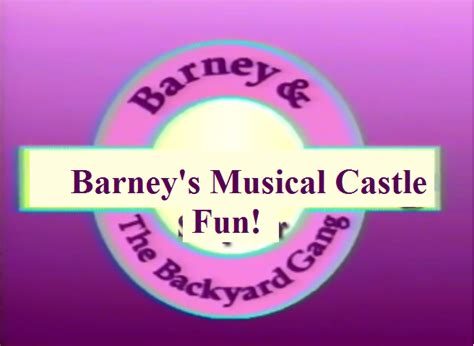 barney and the backyard gang theme song category barney and the backyard gang episodes