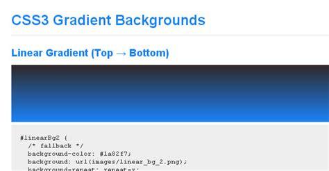 css tutorial gradient background css gradient tutorials for web designers idevie