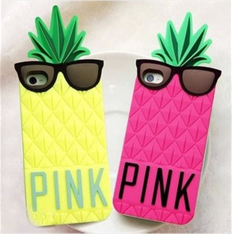 Pink Pineapple Silicone Softcase Apple Iphone 55s s pineapple 3d silicone secret for iphone pink silicon cover for iphone 5 5g