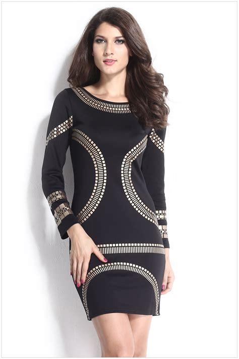 30710 Black White Winter Casual Top New Autumn Clothing Garment Vestidos Black White Gold