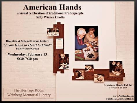 the schemel forum american hands exhibit and schemel forum event