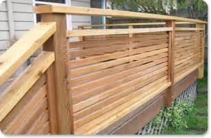horizontal privacy screen railing railings