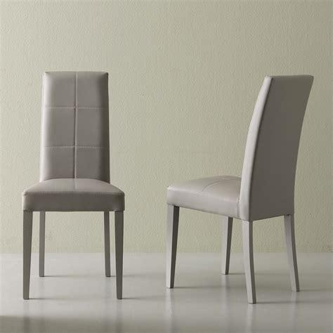 moderner stuhl moderner stuhl aus kunstleder grau linear