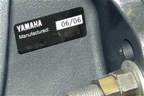 yamaha outboard motor year identification the outboard expert born on date replaces model year