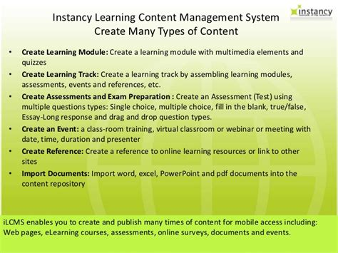 mobile content management system mobile learning content management system