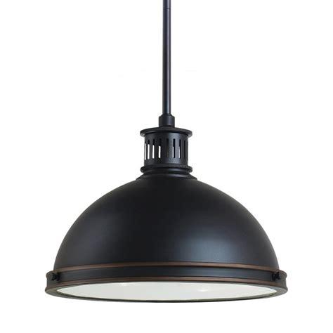 Warehouse Pendant Light Fixtures Shop Sea Gull Lighting Pratt 13 In Autumn Bronze