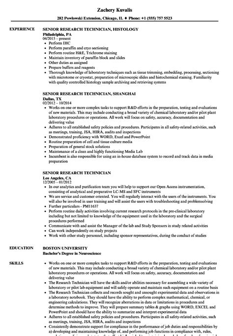 Resume Sle For Research Technician animal care worker sle resume graduate school essay format