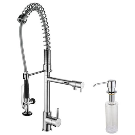 industrial faucet kitchen kraus chrome or stainless steel pull out sprayer kitchen