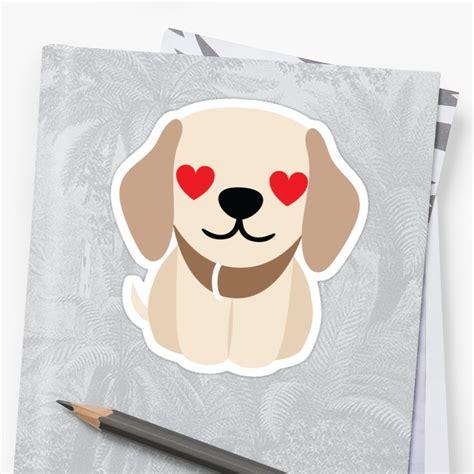 golden retriever emoji quot golden retriever emoji and quot stickers by teeandmee redbubble