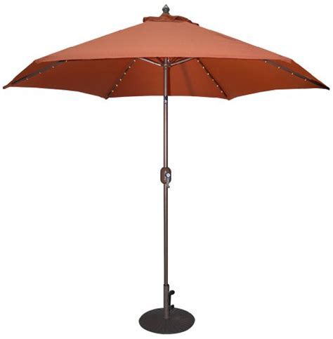 Tropilight Patio Umbrella with Umbrella Stand Patio Umbrella Tropishade Tropilight Led 9 Bronze Aluminum Market Umbrella