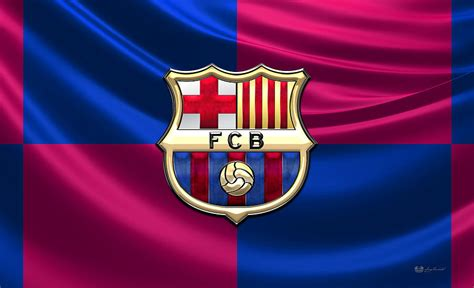 barcelona flag f c barcelona 3d badge over flag photograph by serge